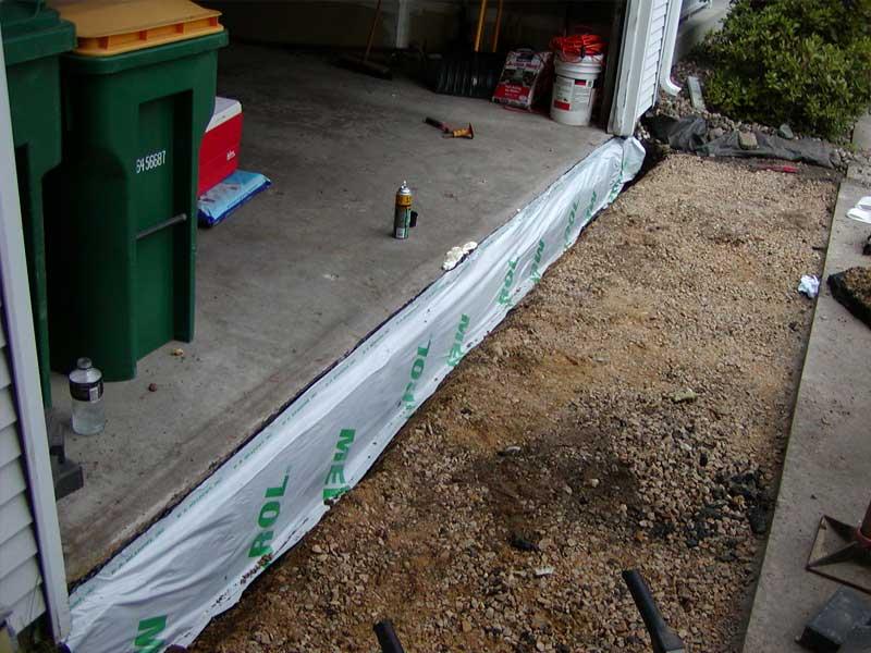 tony installed 50 sqf waterproof membrane 2 yards class 5 base