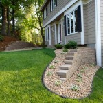 After a beautifully defined area with edging around a retaining wall.