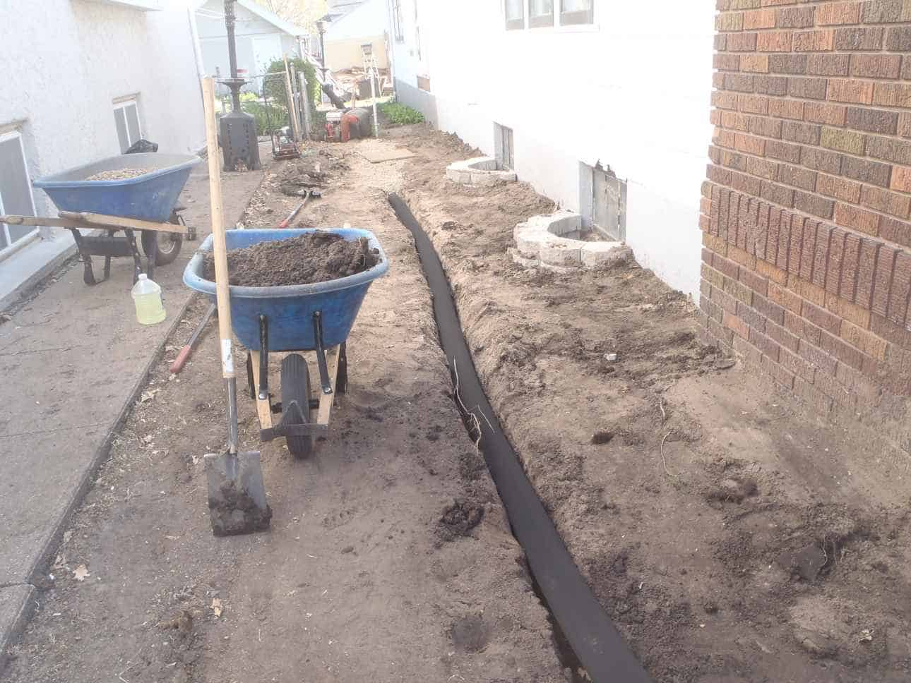 Installing French Drain After Installation