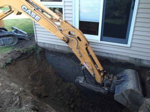 Some jobs require backhoes