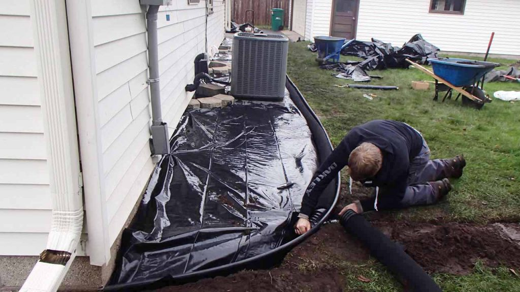 Bloomington, MN exterior drain tile system