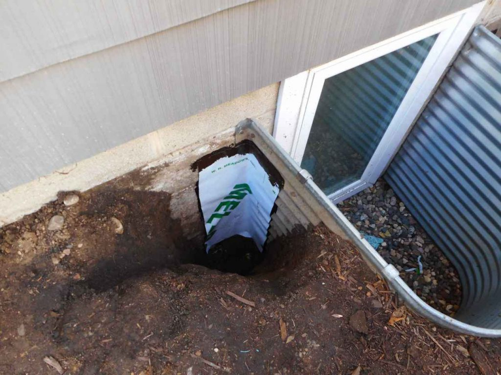 Seal the Egress Window Well to the Foundation