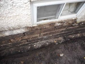 Many Visable Cracks And Gaps Needing To Be Sealed