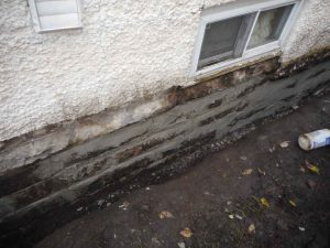 Once Visable Cracks And Gaps Now Sealed With Mortar