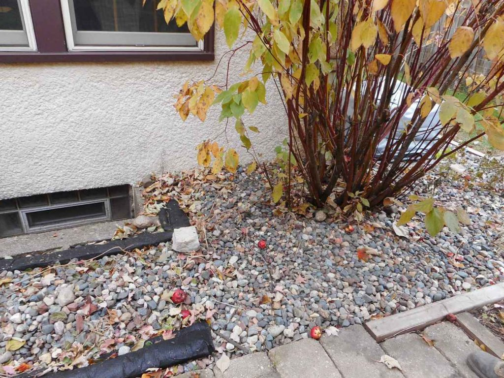 Problem Area By Back Paver Patio And Window Wells