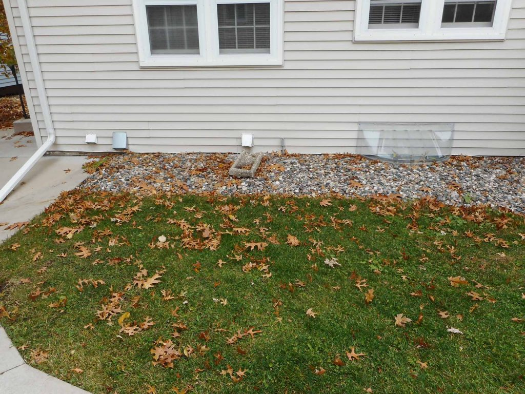 back yard foundation is one of the problem areas