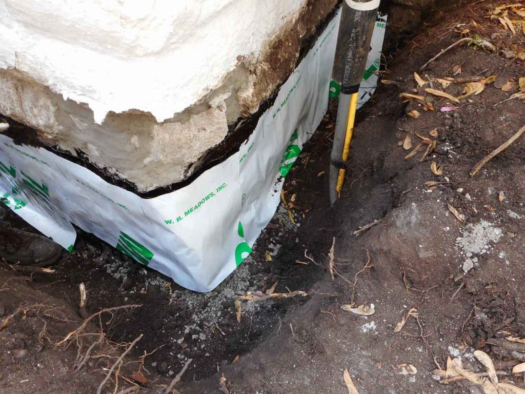 Large Holes Sealed With Sheet Membrane